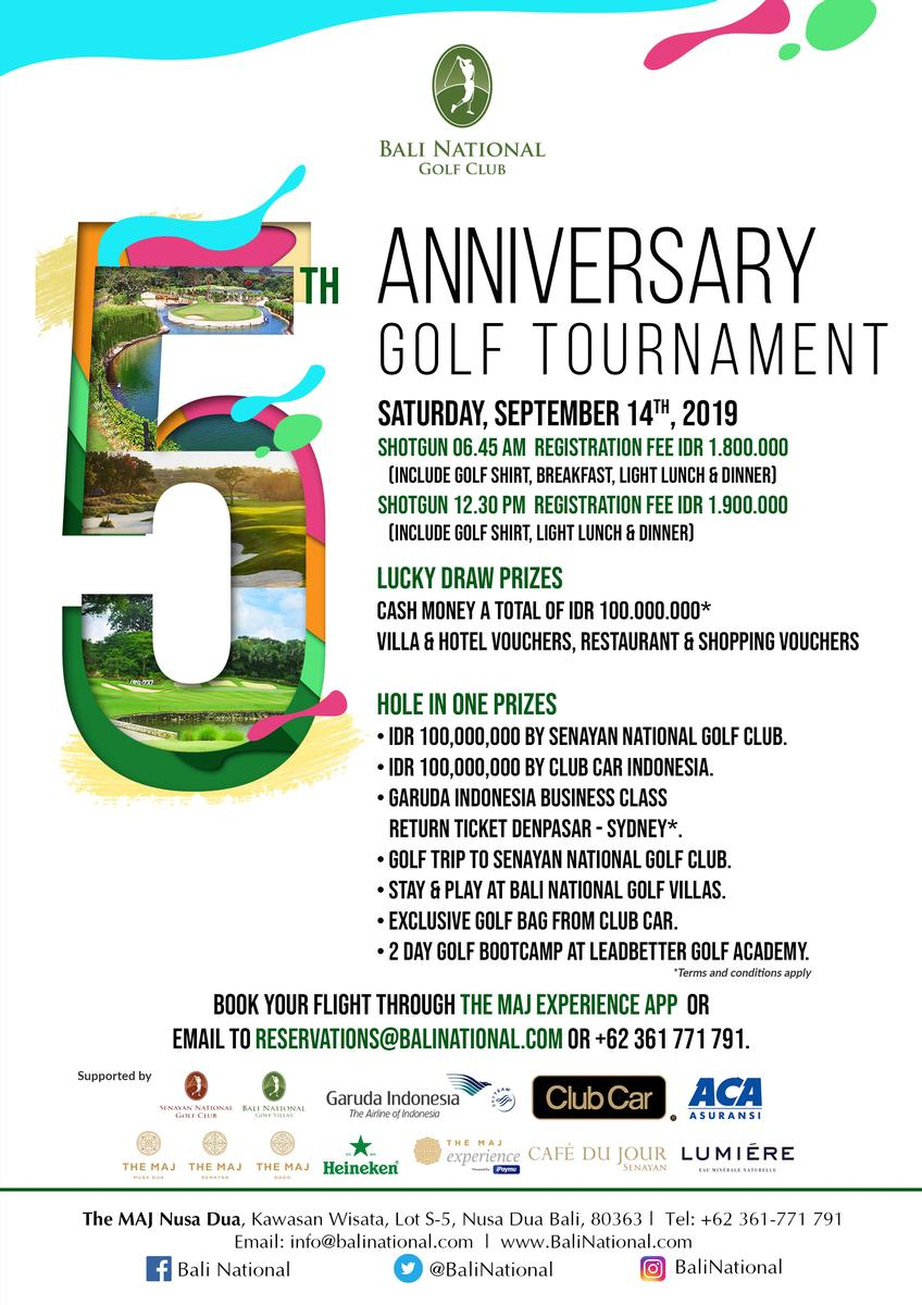 Bali National Golf - Tournaments Events